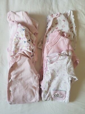 Baby Grow / Sleepsuit Bundle x 6 | Next Mothercare 3-6 months | built in mitts