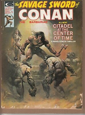 Savage Sword Of Conan #7 1975 B&w 'swords/sorcery'-Barbarian-Thomas/romita...vg