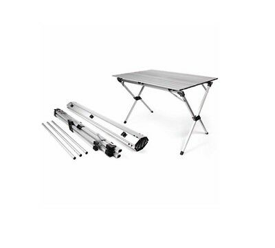 Portable Camping Table Aluminum Folding With Carrying Bag Roll Up RV Picnic Camp