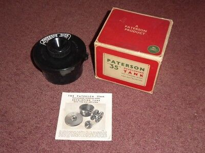 Vintage Paterson 35 Photographic Developing Tank, boxed with Instructions