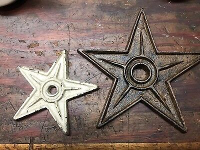 2 Cast Iron Stars Architectural Stress Washer Texas Lone Star Rustic Ranch