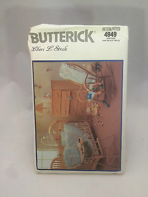 Butterick 4949 Pattern for Nursery Accessories - Quilt bumper, Seat Cover, etc
