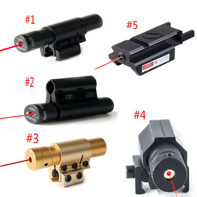 Tactical Pistol Hunting Red Laser Lazer Beam Sight Scope W/Mount For 20mm Rail