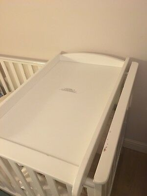 Cot Bed Top Changer White