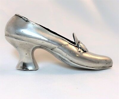 Antique Sterling Silver Shoe Pin Cushion Sewing Novelty Unger Bros. pre 1920