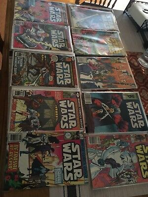 Marvel Star Wars Lot of 10 nice shape all F to VF/NM