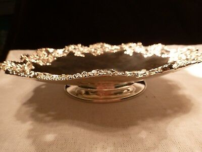 Elegant J E Caldwell Redlich Footed Sterling Silver Bowl Tray Tazza Philadelphia