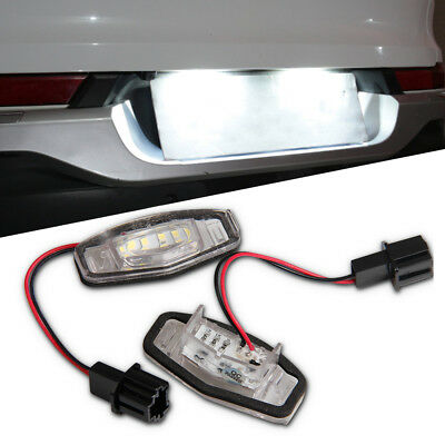 2x 18 LED License Plate Light Direct For Acura TL TSX MDX Honda Civic Accord