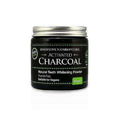 Pure Food Grade Activated Charcoal Teeth Whitening Powder & Tooth Stain Remover