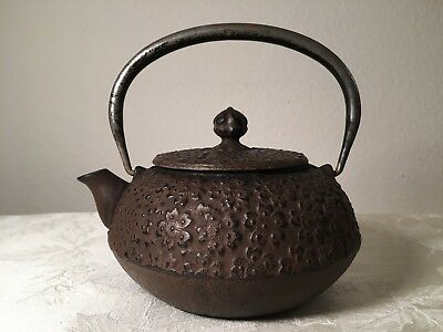 Japanese Metal Teapot (Old Vintage Japan Alloy Cast Iron Tea Signed Mark Marked)