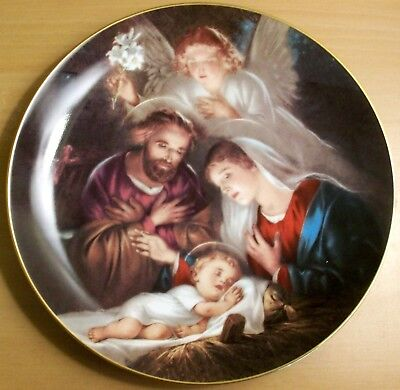 """Bradford Exchange Limited Edition Christmas Plate """"An Angels Message""""  1993"""