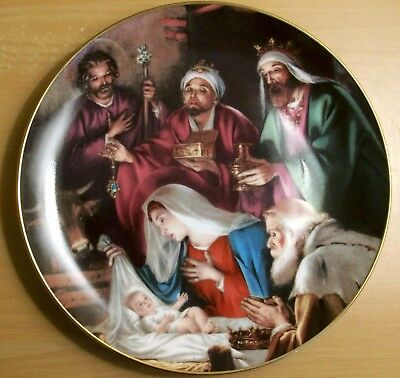 """Bradford Exchange Limited Edition Christmas Plate """"A Gift of Jesuse""""  1993"""