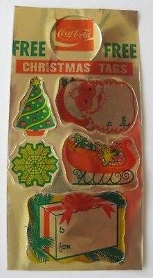 Older Sheet of Gold Foil Metallic Paper Christmas Holiday Gift Tags or Stickers