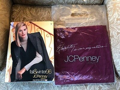 VINTAGE- 1996 JCPENNEY CATALOG FALL & WINTER & Carrying Bag Very Good Condition