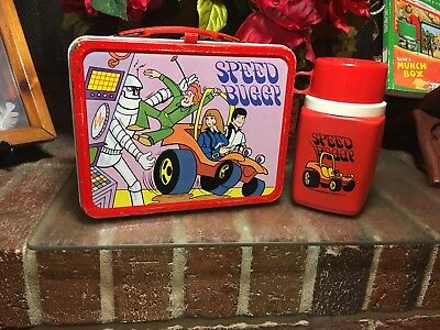VERY RARE! Vintage 1973 Speed Buggy Metal Lunchbox with Thermos~King Seeley~HTF