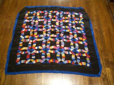 "Vintage Museum Of American Folk Art Abstract Print 100% Silk Ladies 31""  Scarf"