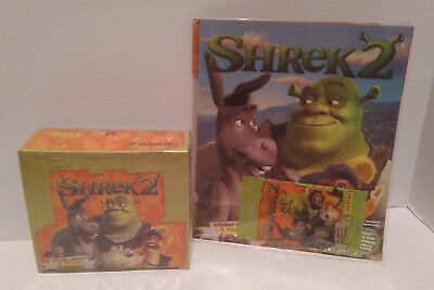 NEW Shrek 2 Panini Sticker Album With Stickers and 48 Sticker Packs (490 Total)