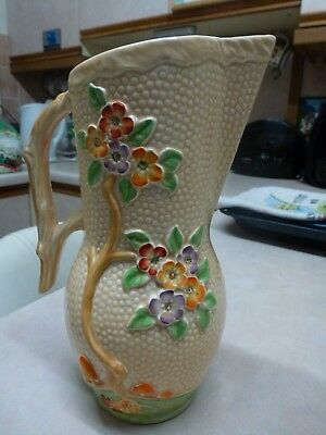 "Crown Devon Jug ,beautifully decorated and about 10"" high."