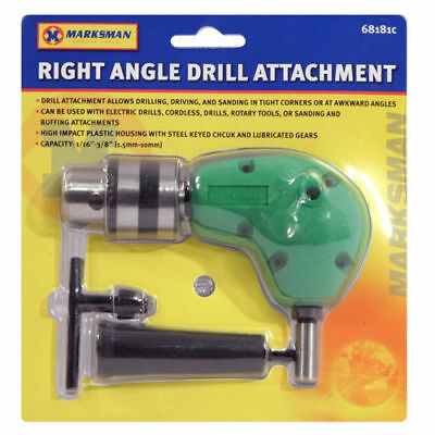 "Right Angle Drill Attachment Chuck Key Adapter 3/8"" Diy Tool Accessory Cordles"