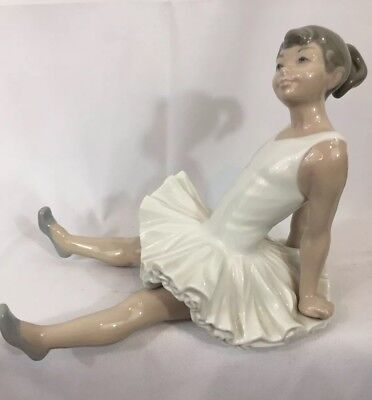 NAO By Lladro Figurine - Seated Ballerina Excellent - Estate Find