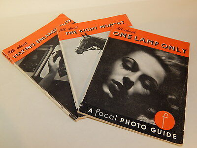 3x vintage A Focal Photo Guide booklets Making Enlargements Right Moments 1 Lamp