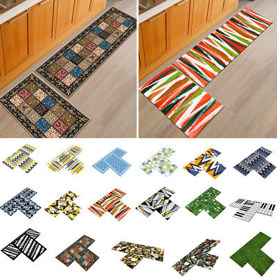 AU!! 2x Non-Slip Home Kitchen Floor Mat Machine Washable Rug Door Hallway Carpet