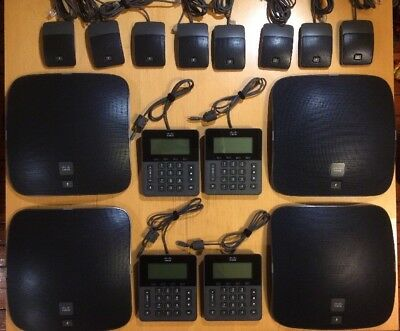 Lot of 4 Cisco UC Phone CP-8831 Conference Phone with Keypad and Wired Mics