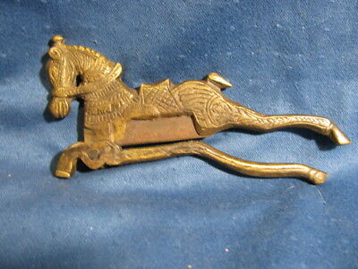 Late 19th / Early 20th c. Indian Brass Betel Nut Cutter w/ Horse Motif