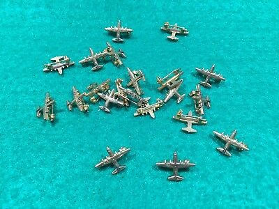 Lot of 20 1970's Vintage US Air Force C-130 Hercules Goldtone Finish Pins