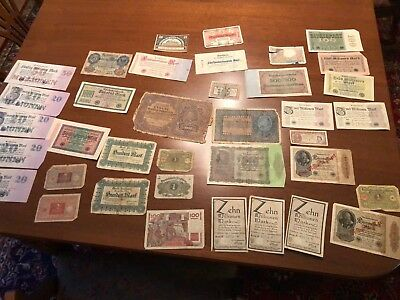 antique international paper currency money