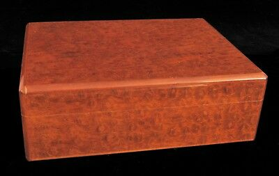 "Vintage Dunhill Humidor Burl Wood Cigar Box Beautiful 11"" Humidity Control !"