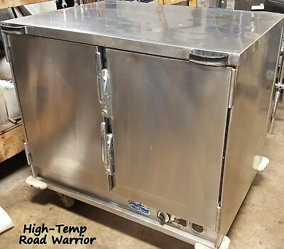 High-Temp Insulated Portable Worktop Food Warmer Pan Rack Catering Cabinet 120V