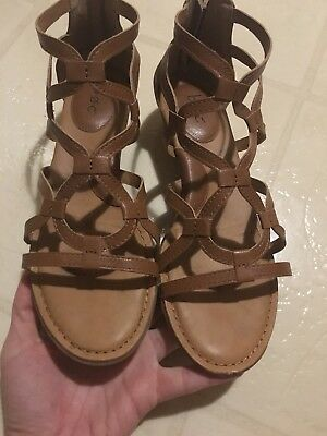 d23544a0af1 ECCO GLADIATOR SANDALS 40 Gold Leather Metallic Open Toe 9-9.5 US ...