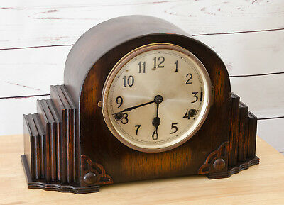 Wooden Mantel Clock Vintage Antique [Not Working Restoration Project]
