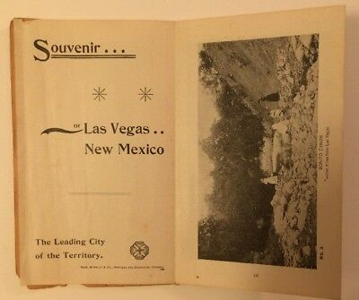 Souvenir Of Las Vegas New Mexico 1893 Multi Fold Brochure with Lithograph Images