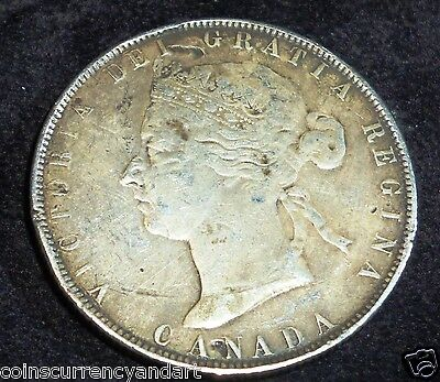1881-H Canada  50 Cents - SILVER Fifty Cents
