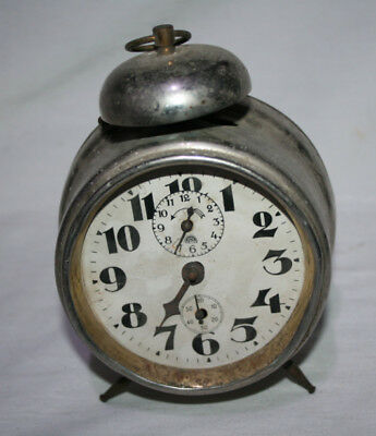 Antiguo Reloj Despertador De Campana Marca Haller, Ver Descripcion