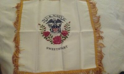 WWII US Navy Sweetheart Pillow Sham  Mint Condition