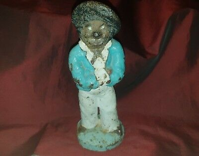 Victorian  Jacques & Son Circa 1853  Cast Iron Sailor Doorstop - Very rare
