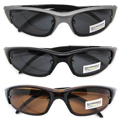 8e4f784e196 Nitrogen Polarized Lens Rectangular Sports Wrap Men Sunglasses Running  Cycling