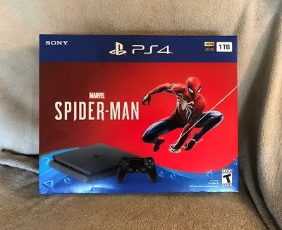 Spiderman PS4 Bundle PlayStation 4 BRAND NEW Sony 1TB BRAND NEW SEALED