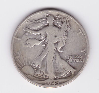 1943 Half ½ Dollar Walking Liberty Silver Coin United States America USA C-442