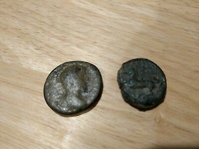 Greek ancient coins Lot Of 2 With Horse