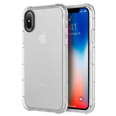 For iPhone X XS Case Transparent Bumper Silicone Gel iPhone 10 10S Soft Cover