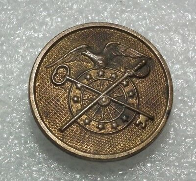 2365 Us Ww1 /wwi Collar Disc 1920's Gilt Quatermasters