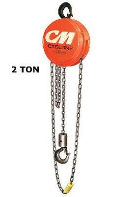 Cm Cyclone Series 646 Manual Hand Chain Hoist - 2 Ton Capacity - 10 Ft Lift