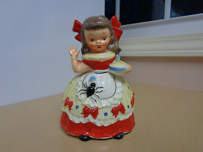 1956 Vintage Napco Little Miss Muffet Figurine-Repaired