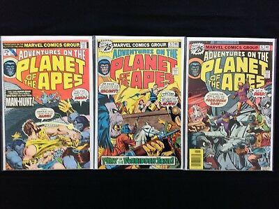 ADVENTURES ON THE PLANET OF THE APES Lot of 3 Marvel Comic Books - #3 5 6!