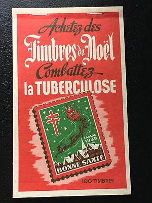Canada Xmas Seal Booklet 1939! MNH OG - French. SC#26