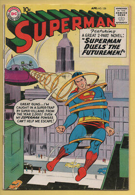 Superman #128 April 1959, DC, 1939 Series VG